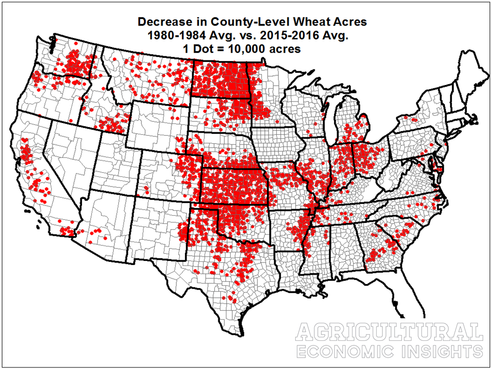 wheat acreage. 2018. ag trends. agricultural economic insights