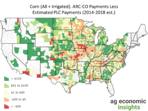 2014 Farm Bill ARC PLC ag trends. aei.ag