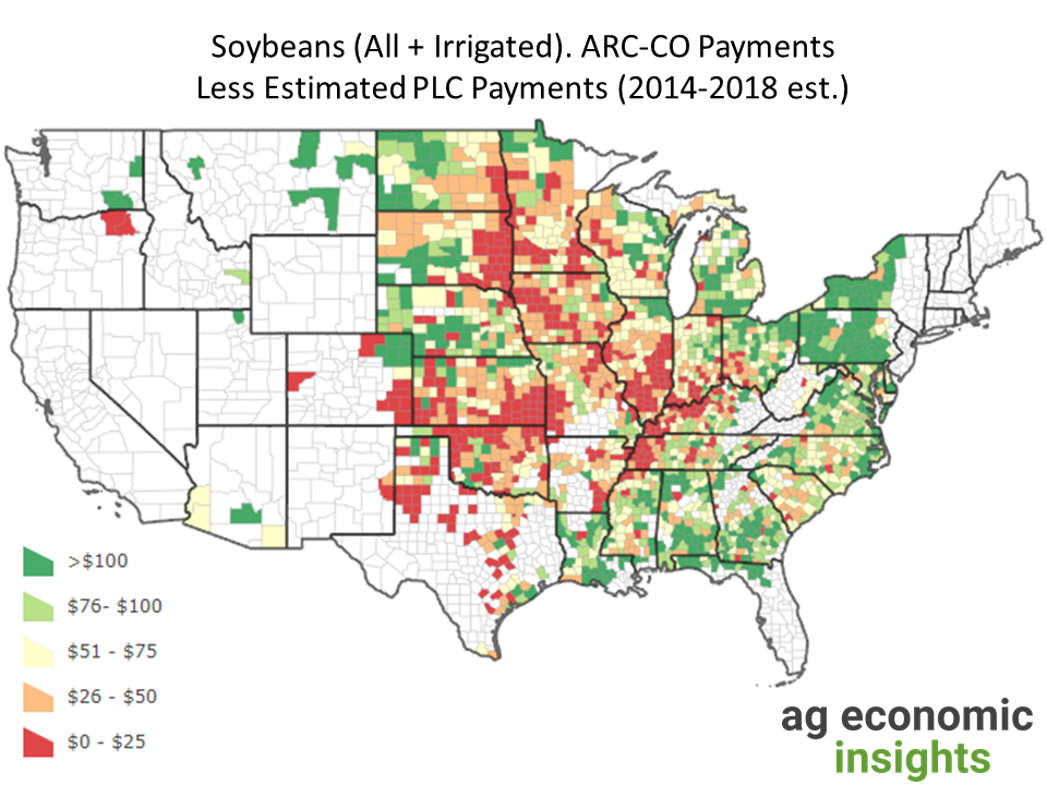 2014 Farm Bill ARC-CO PLC. aei.ag ag trends. soybeans