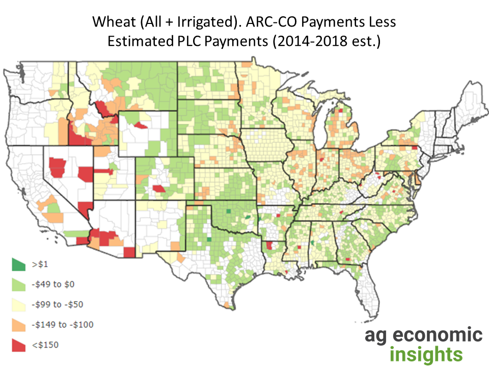 2014 Farm Bill ARC-CO PLC. aei.ag. ag trends. wheat