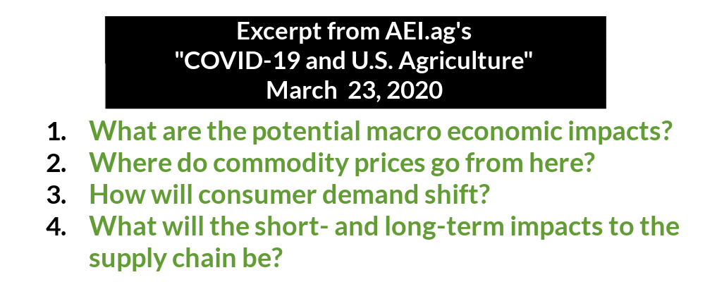 Key questions about farm economy at start of COVID-19 pandemic